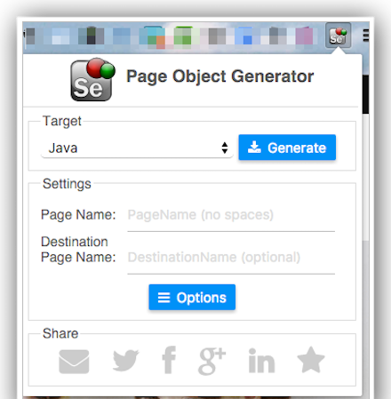 page object generator